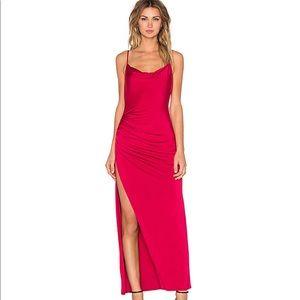 NBD Long Silky Red Dress